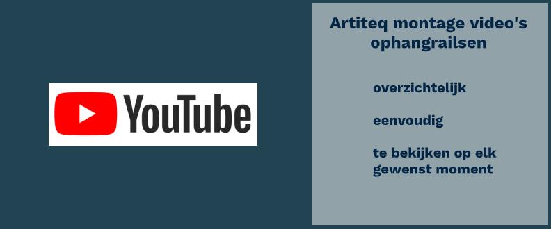 Artiteq montage video's ophangrailsen