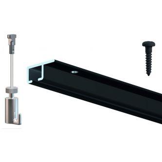 ArtiTeq Top Rail zwart tot 15 kg