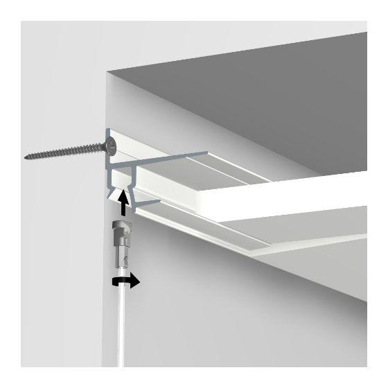 ArtiTeq shadowline plafondrail wit 250 cm