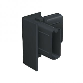 Click rail hoekverbinder zwart